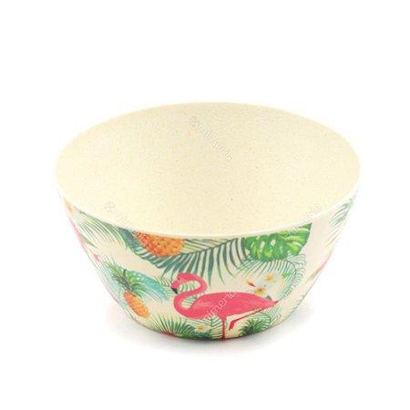 Bowl Eco de Fibra de Bambu Flamingo