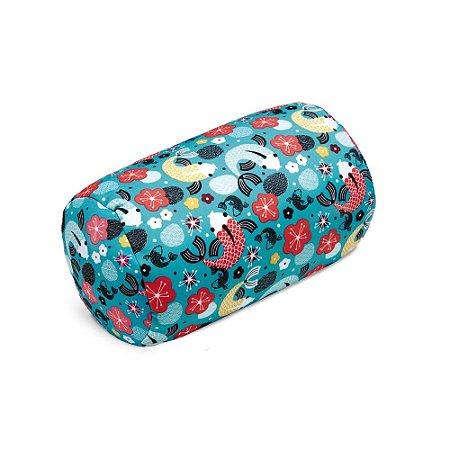 Almofada Rolo Carpas Azul