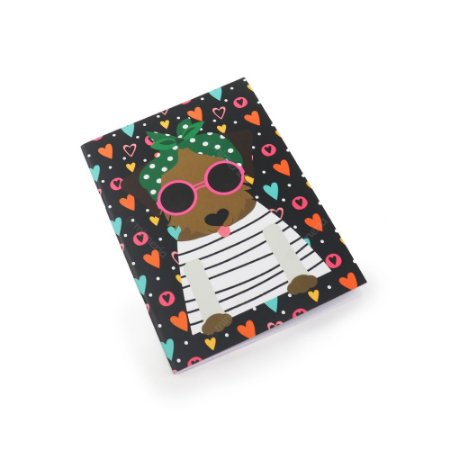 Caderno Pontado Happy Dog Caramelo