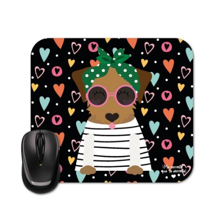 Mouse Pad Happy Dog Caramelo