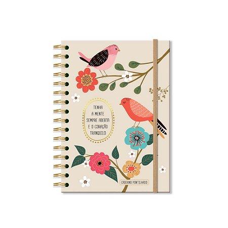 Caderno Pontilhado Pássaros