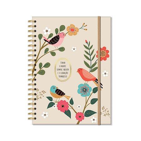 Caderno Universitário 96 Folhas Pássaros