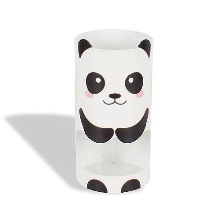 Porta-Lápis em Aço Dois Andares Panda