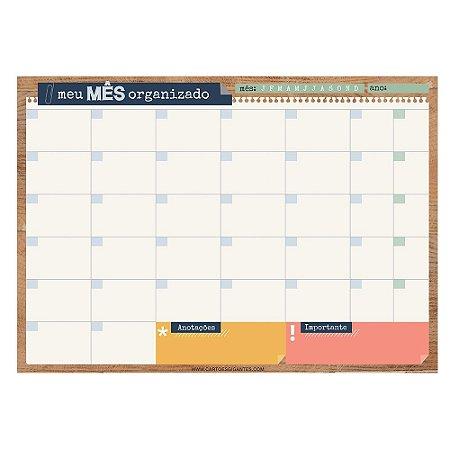 Bloco Planner de Mesa Mensal Office