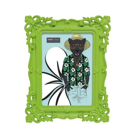 Porta Retrato Rococó Verde 13x18