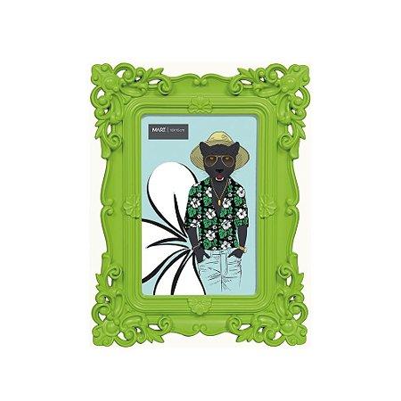 Porta Retrato Rococó Verde 10x15