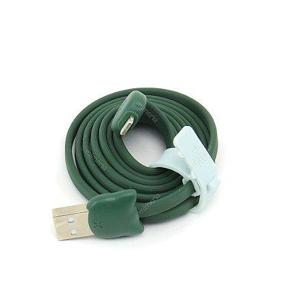 Cabo USB Gatinho Verde
