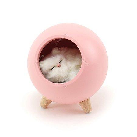 Luminária de Bichinho Gato Rosa