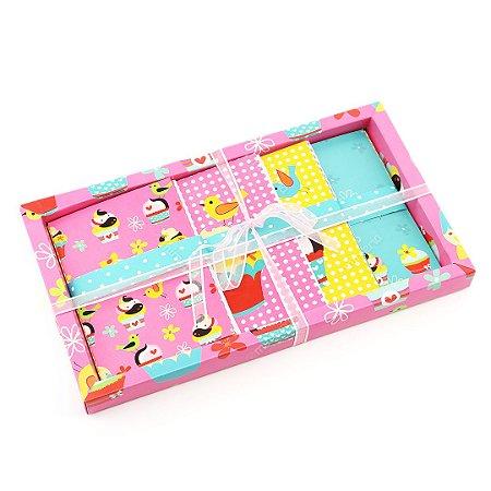 Kit de Cartões com Visor Cupcake