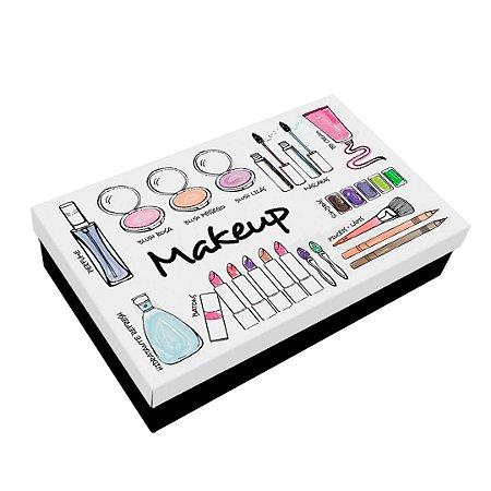 Caixa de Maquiagem em Aço Makeup