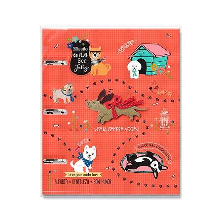 Caderno Argolado Fichário Cachorro Amigo