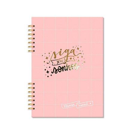 Planner Mensal Rosa Quadriculado