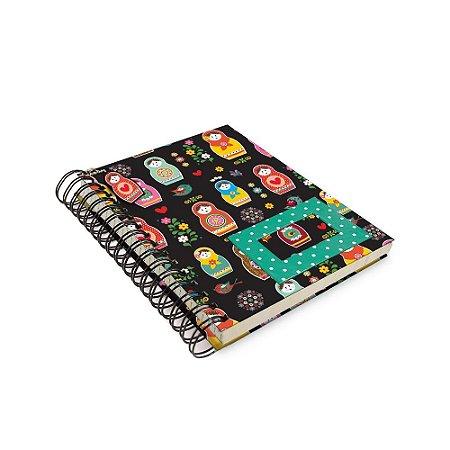 Caderno de Anotação Matrioskas - Tecido