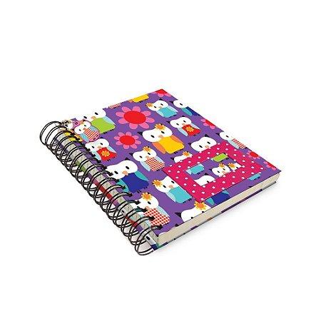 Caderno de Anotação Corujas - Tecido