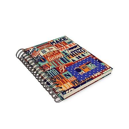 Caderno de Anotação Make Love - Tecido