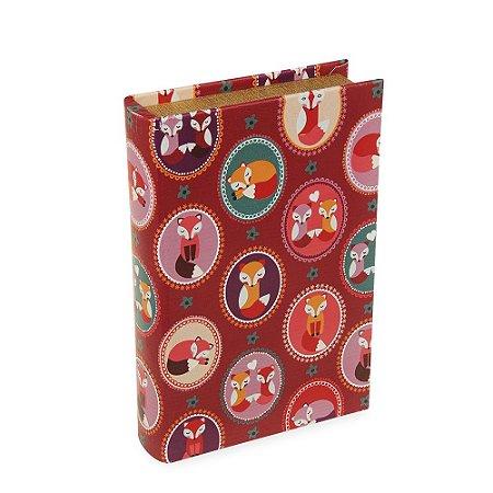 Livro Caixa Raposas Vermelho