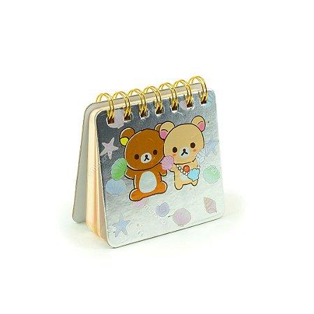 Caderneta Ursinhos e Colar de Conchas