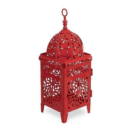 Lanterna Marroquina Vermelha