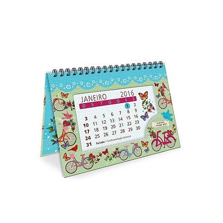 Calendário de Mesa Decorado Bicicletas 2016