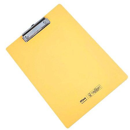 Prancheta Prime Amarela Brilhante Média A4