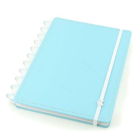 Caderno Inteligente Azul Pastel Grande