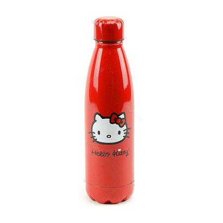 Garrafa Térmica de Inox Hello Kitty 500 ml Vermelha