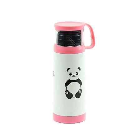 Garrafa Térmica com Xícara Panda 350 ml