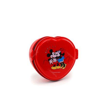 Marmita Lunch Box Coração Mickey e Minnie