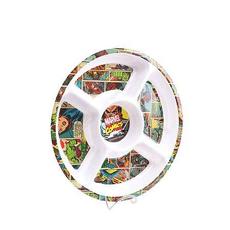 Petisqueira Redonda Marvel Comics