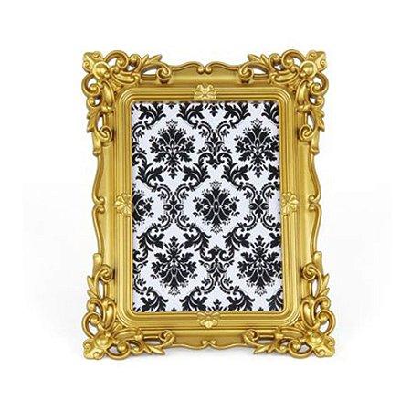 Porta Retrato Rococó Dourado 13x18