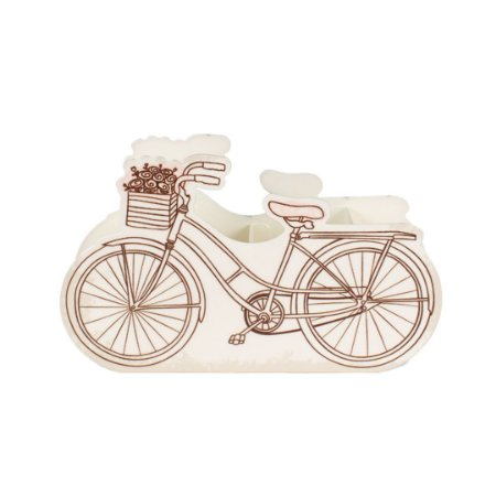 Porta-Lápis em Aço Duplo Bicicleta