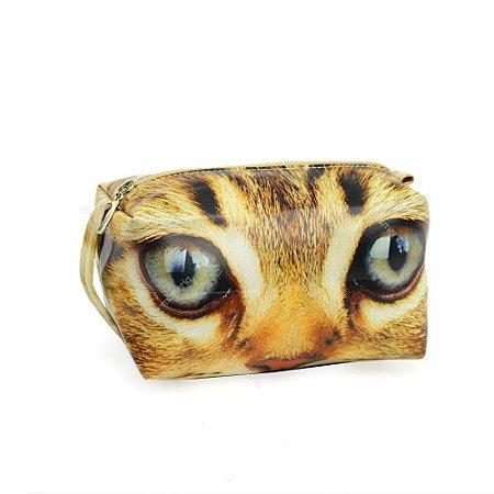 Necessaire Estampada Grande Olhos de Gato