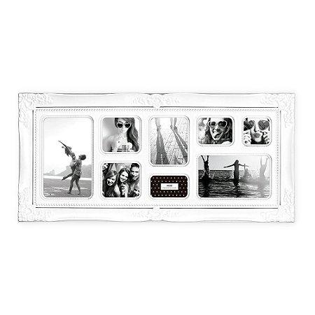 Porta Retrato Vintage Branco - 8 Fotos