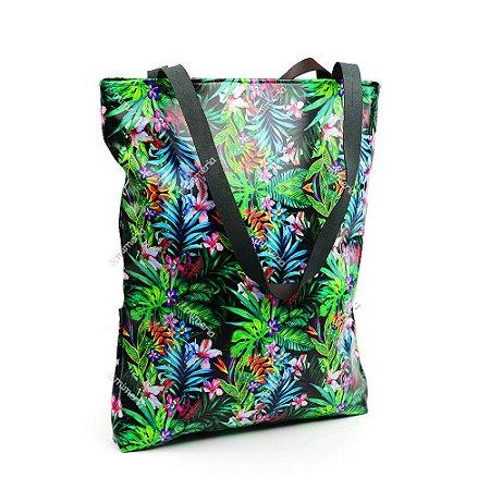 Bolsa Sacola Estampada Tropical