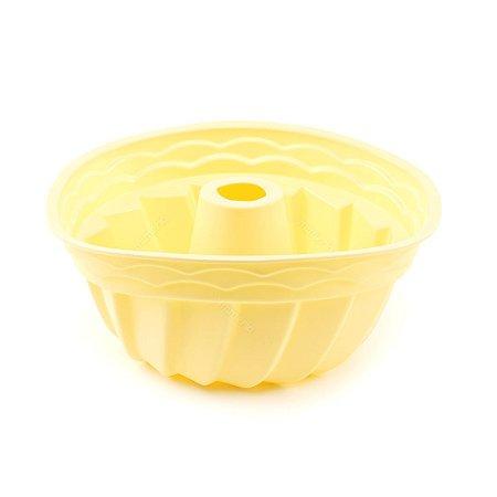Forma de Silicone para Pudim Soft Amarelo