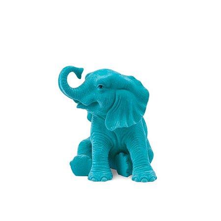 Elefante Sentado Jade em Veludo