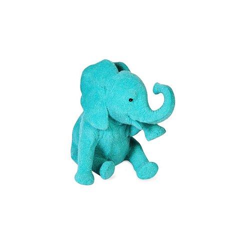 Elefante Lágrima Jade em Veludo