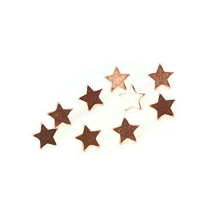 Alfinete Percevejo para Lousa e Quadro Estrela Rosê com 9 Unidades