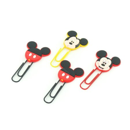Clipes de Papel Mickey Mouse 50 mm com 4 Unidades