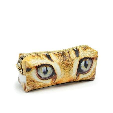Estojo Estampado Olhos de Gato