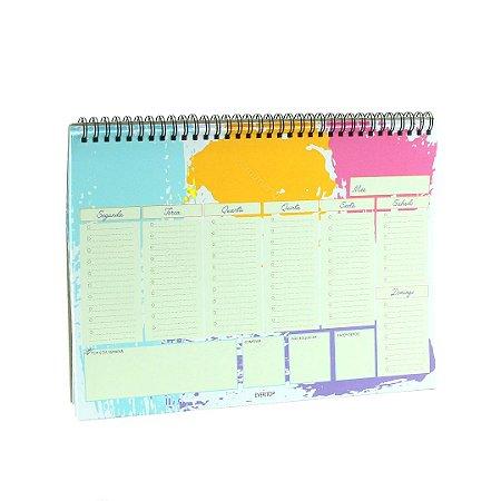 Ever Planner de Mesa Semanal Livre Para Criar Colorido A4