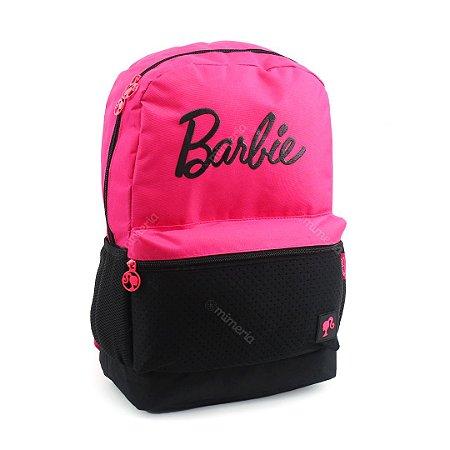 Mochila Escolar Barbie Pink e Preta