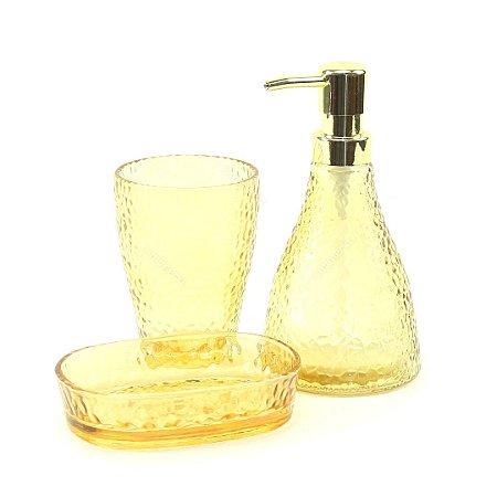 Kit de Banheiro em Vidro Elegant Âmbar