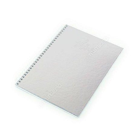 Caderno Colegial 80 Folhas Shine Prata