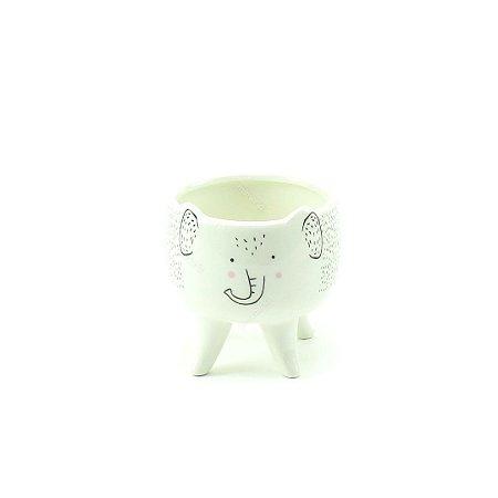 Cachepô de Cerâmica com Pés Elefante Pequeno