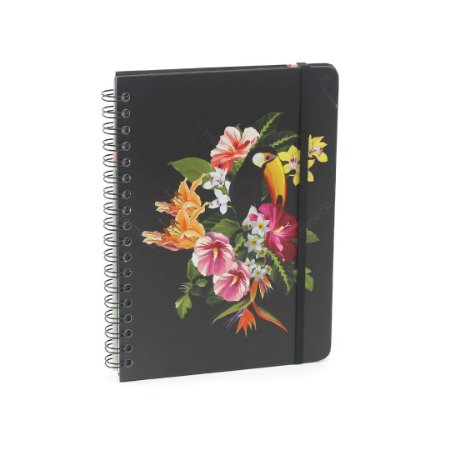 Caderno Colegial Wire-O Tropical Fauna