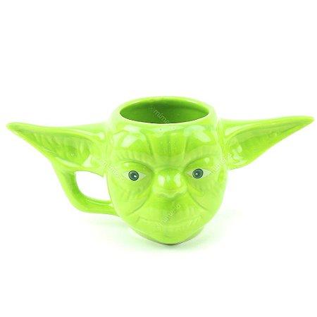 Caneca Decorativa de Porcelana 3D Star Wars Yoda
