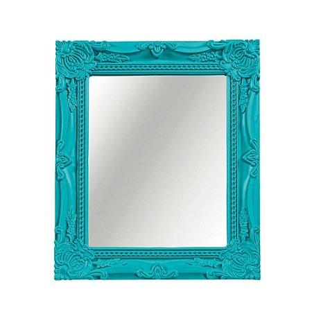 Espelho Decorativo Vintage Turquesa 20x25