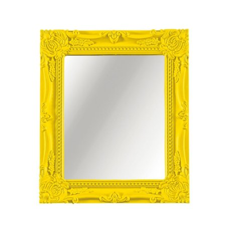 Espelho Decorativo Vintage Amarelo 20x25
