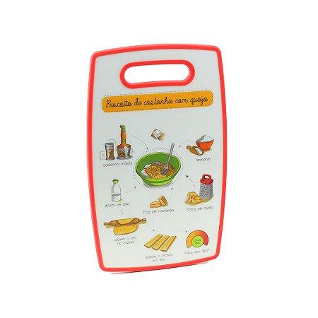 Tábua de Corte de Plástico Biscoito de Castanha Vermelha
